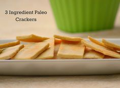 Almost Supermom: 3 Ingredient Gluten Free/Paleo Crackers