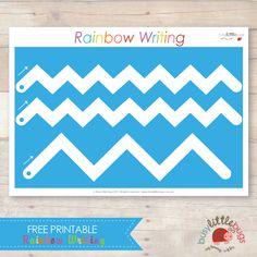 BUSY LITTLE BUGS - FREE RAINBOW WRITING LINES ACTIVITY - EARLY WRITING SKILLS