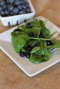 Blueberry Spinach Salad - Lynn's Kitchen Adventures