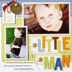 Cute boy layouts from Scrapbooks etc