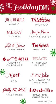 12 Free Holiday Font