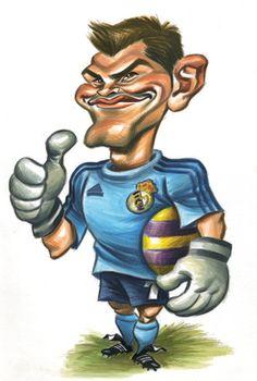 Caricaturas graciosas de futbolistas