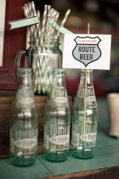 route 66 party on pinterest vintage car party car centerpieces and. Black Bedroom Furniture Sets. Home Design Ideas