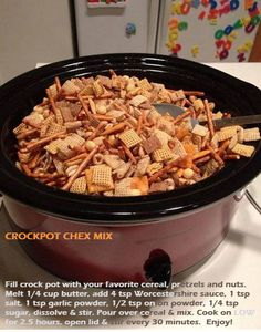 Crock-pot Chex Mix! I didn't know you could do this! Wow!   # Croc Pot # Fall Cooking # Tailgating Ideas # Gameday Ideas # Superbowl # Chex Mix # Slow Cooker Snacks
