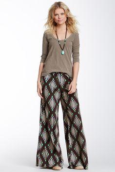diamond print pants