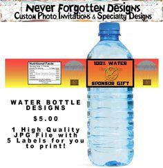 Hunger Games water bottle labels on etsy (Sponsor Gift!) =)