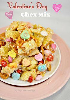 Valentine's Day Chex Mix Recipe #Valentines