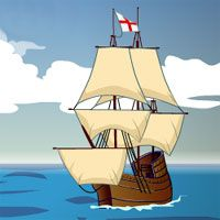 "Jamestown online adventure game ~ The year is 1607. you are the captain of the Jamestown Colony in Virginia in this flash-based historical simulation. Will your colony survive and prosper or will it become another ""lost colony""?"