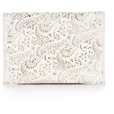 Harlow Laser-Cut Envelope Clutch found on Polyvore