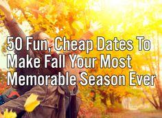 50 Fun, Cheap fall date ideas