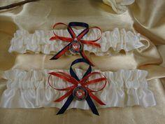 Ivory Satin Wedding Garter set with US Marine Corps by StarBridal, $34.95
