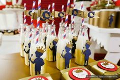 Royal Prince 1st birthday party : Drink Bottles