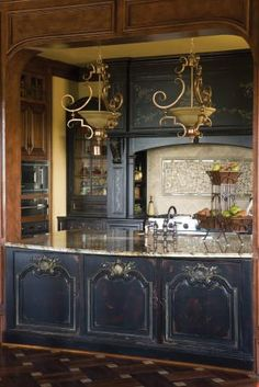 Habersham Cabinetry; the blue color