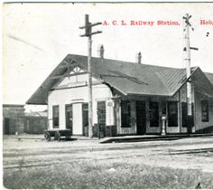 A.C.L. Railway Station, Hobgood, N.C. :: North Carolina Postcards