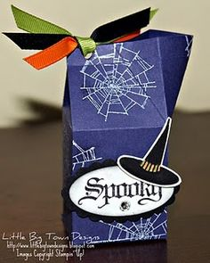 Stampin' Up! Mini Milk Carton... fill with Halloween treats or stickers etc