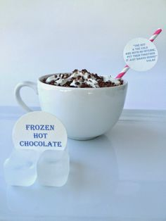 Frozen Hot Chocolate - perfect for Summer