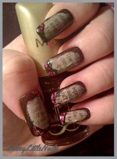 SassyLittleNails: Old Love notes nail art