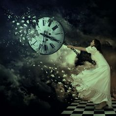 surreal surrealism art, time travel, dream, digital art, photo manipulation, random thoughts, clocks, austria, night circus