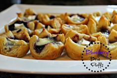 Blueberry Brie Puffs #recipe #food #appetizers #holiday #entertaining