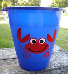 Custom Sand Buckets - Personalized with Name - vinyl gift idea