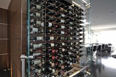 "The ""Wave"" house wine storage"