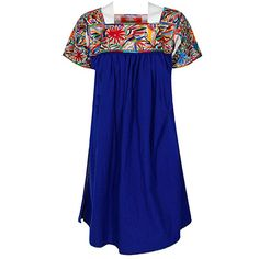 Nativa Rogelia Tunic Dress with Otomi Embroidery at Maverick Western Wear