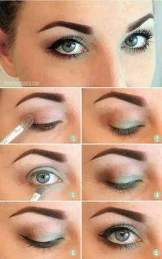 Maquillage frais pour yeux verts