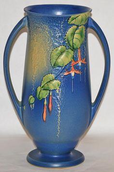 Roseville Pottery - Fuchsia - Blue - Vase #903-12