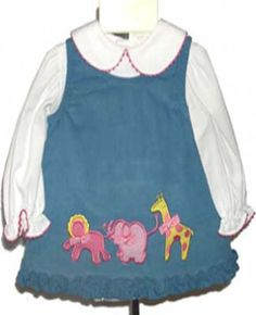 Check out the deal on Peaches 'n Cream Safari Animals Baby Dress 0-3M at Adorable Baby Clothing $18.95