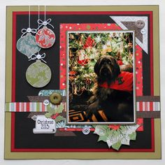Christmas Scrapbook Layout SEI Would be great with a picture of the family in front of the tree!