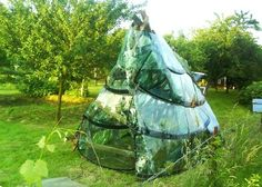 Recycled Windshield Greenhouse