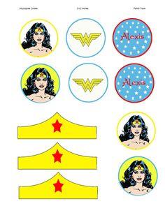 Wonder Woman Party Circles