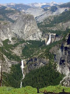 Nevada and Vernal Falls, Yosemite National Park,  California