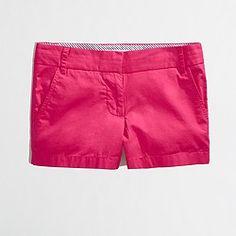 """Jcrew 3"""" shorts in Wild Strawberry"""