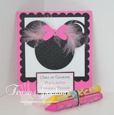 Minnie Mouse ideas:  Libro para colorear de Minnie  www.coqueteriasmanuales.com