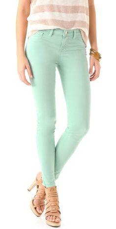 mint J Brand skinny jeans