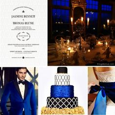 Pantone Royal Blue Fall Wedding Inspiration