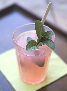 Rhubarb lavender cocktails