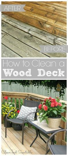 Great step by step instructions on how to clean a wood deck.