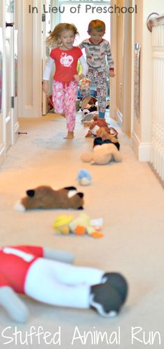 a fun, indoor gross motor activity invented by kids for kids!