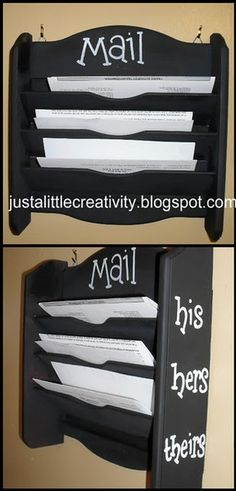 No more mail piles on the dining room table...this is genius! I totally need this. coffee tables, idea, kitchen tables, dining room tables, kitchen counters, hous, mail boxes, mail pile, mail organization
