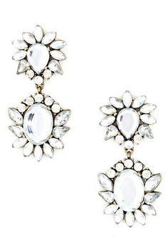 Floral Drop Earrings - UOIONLINE.COM