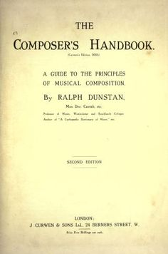 The composer's handbook : a guide to the princi...