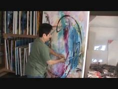 Creating an Abstract Art Painting by the Contemporary Artist Vera - www....