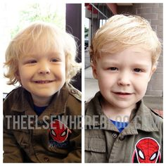 Toddler boy hair cut before/after  3 year old hair cut, toddler boy shaggy hair, toddler hairstyle, boy hair