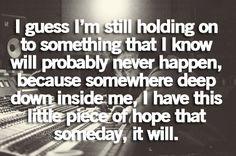 That little hope