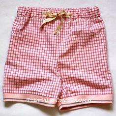 kid shorts with rib knitted hem