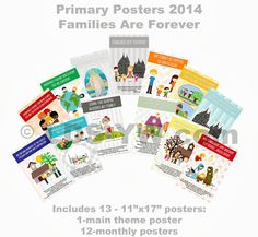 LDS Young Women: Primary Posters for 2014 - Families Are Forever @Christina & Score and @Michelle Flynn Rockwood Here are some different posters that may be super cute for primary!