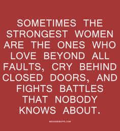 Sometimes the strong
