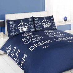 Keep Calm bed spread